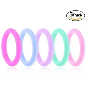 NEW✨ Bundle of 5 Silicone Flexible Wedding Rings